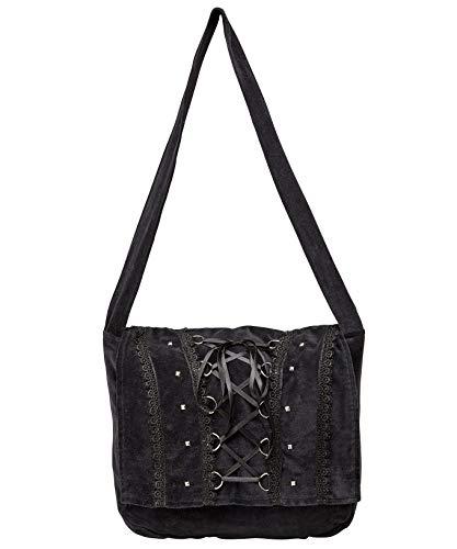 Cotton Black Body Browns Joe Bag Black Embroidered Cross Womens aXxtawq0B
