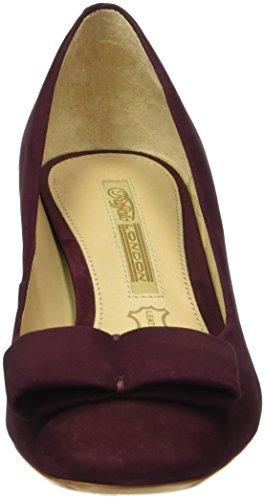 Buffalo London Zs 5784-15 Nobuck, Zapatos de Tacón para Mujer Rojo (OXBLOOD 01)