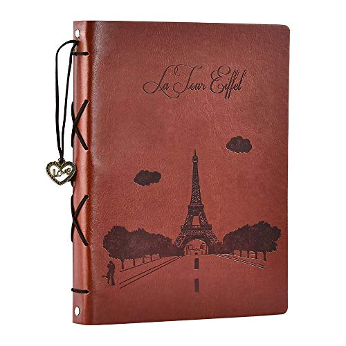 Scrapbook Album,SEEHAN Travel Leather Photo Album