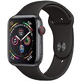 Apple Watch Series 4, 44 mm, Alumínio Cinza Espacial, Pulseira Esportiva Preta e Fecho Clássico - Mu6d2bz/a
