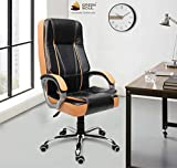 Green Soul Vienna High Back Revolving Office Chair (Black and Tan, +4 Colors)