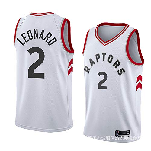 Raptors Kevin Leonard 2 Basketball Jersey, Kawaii 2 Jersey, James 23 Jersey, Sports Basketball Clothing, Suitable for Boys and Girls FRHLH-White-L ()
