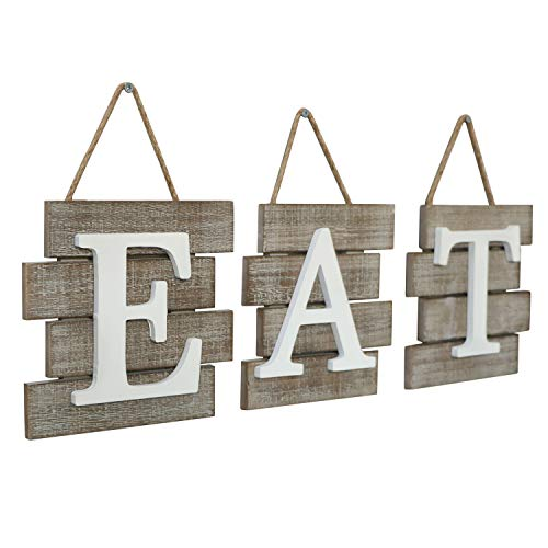 """Barnyard Designs Eat Sign Wall Decor for Kitchen and Home, Distressed Natural, Rustic Farmhouse Country Decorative Wall Art 24'' x 8"""" by Barnyard Designs (Image #3)"""