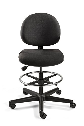 Bevco Industrial Seating - Bevco Lexington, Tall Height Black Fabric Chair, Black Nylon Base, 18