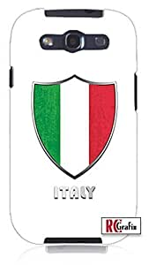 Cool Painting The Best Italy Italian Italia National Flag Badge Direct UV Printed Unique Quality Hard Snap On Case for Samsung Galaxy S4 I9500 - White Case