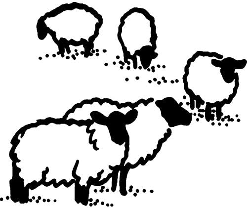 Azeeda A8 Grazing Sheep Unmounted Rubber Stamp RS00029818