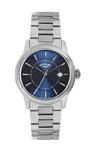 Rotary GB02770/05 Mens Locarno Stainless Steel Watch w/ Date