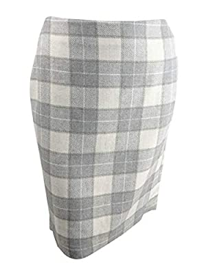 Tommy Hilfiger Womens Plaid Straight Skirt