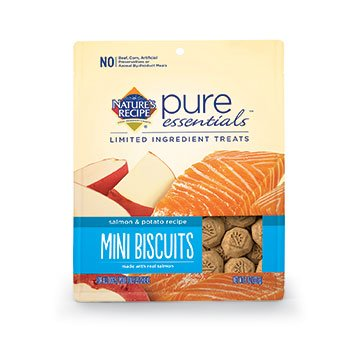 Nature's Recipe Pure Essentials Biscuits - Salmon & Potato - Mini - 8oz