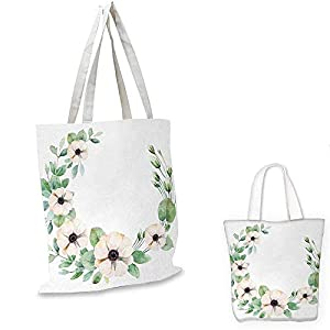 Anemone FlowerRound Composition with Flourishing Fresh Bedding Plants and StemsGreen Peach Black. 99