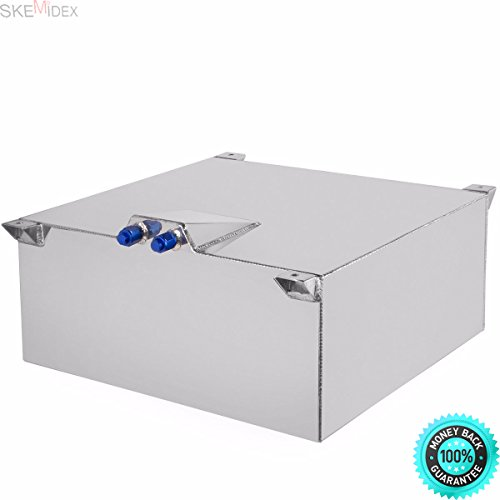SKEMIDEX---Auxiliary Fuel Tanks Titan Fuel Tanks Under Bed Auxiliary Fuel Tanks for Pickup Trucks 500 Gallon Fuel and 20 Gallon Lightweight Polished Aluminum Race Drift Fuel Cell Tank Level Sender ()