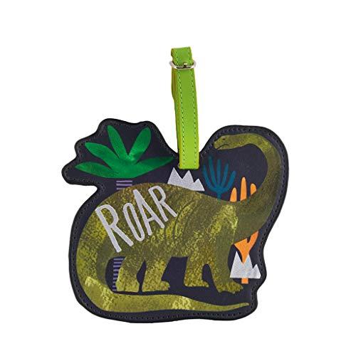 - Dinosaur Roar Brontosaurus Midnight Black 6 x 4 Acrylic Name Address Luggage Tag