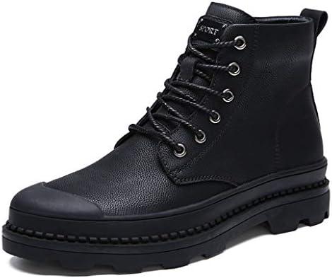 ウィンターブーツ マーティンブーツ ハイカットブーツ スノーシューズ ブーツ ブラック 黒 ショート メンズ 裏起毛 防寒 暖か 靴 冬 アウトドア メンズ 防滑 ミドル丈 防水 ワークブーツ スノーブーツ