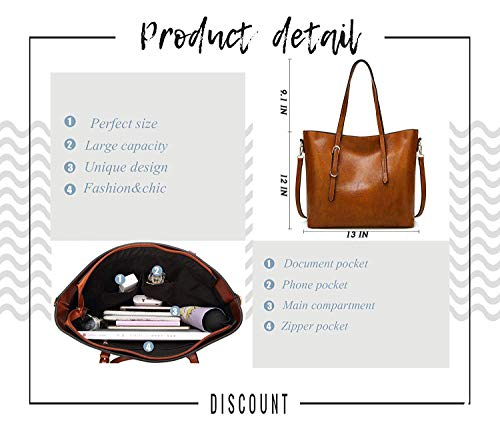 AILLOSA Purses and Handbags for Women Satchel Shoulder Tote Bags by AILLOSA (Image #2)