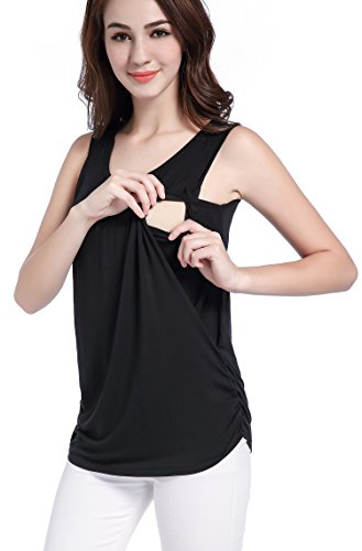 SUIEK Maternity Nursing Shirt Breastfeeding Tank