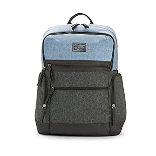 Eddie Bauer Meridian Diaper Backpack, Grey/Blue