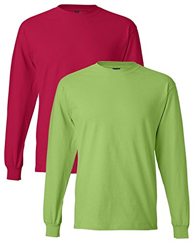 Hanes Adult Beefy-T Long-Sleeve T-Shirt Hanes Youth Short