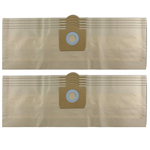 Spares2go Strong Dust Bags For Hoover Jet n Wash Series Vacuum Cleaner (Pack Of 10) ()