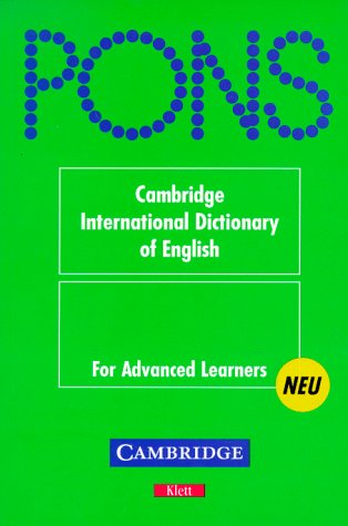 PONS Wörterbuch, Cambridge International Dictionary of English