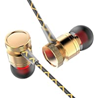 In-Ear Earphones/Earbuds/Headphones/Headset with Stereo Mic & Remote Control(Silver/Gold/Pink) (Gold)