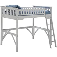 Night & Day Furniture GIN-LBH-TWN-COM-WH Ginger Loft, white finish, Twin
