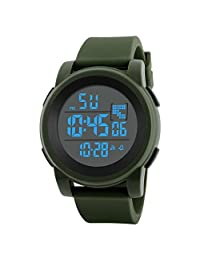 LED Sport Watch, Digital Electronic Military Kids Sports Watch with Luminous Alarm Stopwatch Watches