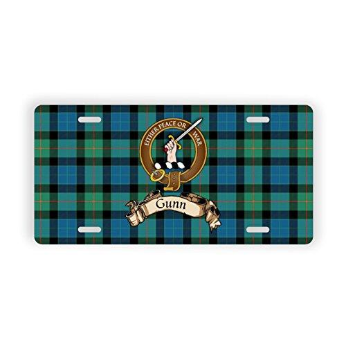 Gunn Scotland Clan Tartan Novelty Auto - Modern Tartan Clan