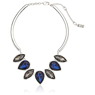Kenneth Cole New York Black Diamond and Dark Blue Frontal Necklace for sale