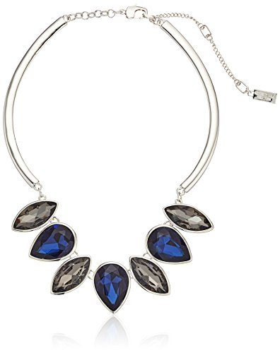 Kenneth Cole New York Black Diamond and Dark Blue Frontal Necklace
