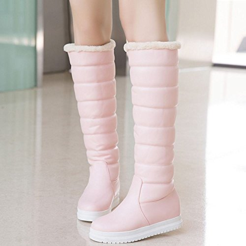 Women On Pull Boots Pink 2 Flatform Warm COOLCEPT Snow FnaYq7Fd