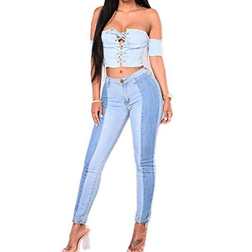 Xxl Jeans Blue Skinny Blue A Basic Size Vita Snellenti Alta Elasticizzati Cvthfyk color aTqP1w
