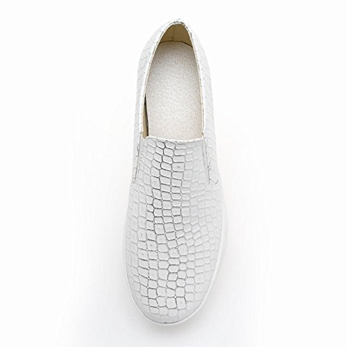 Charm Fot Kvinna Plattform Casual Komfort Penny Loafers Skor Vit