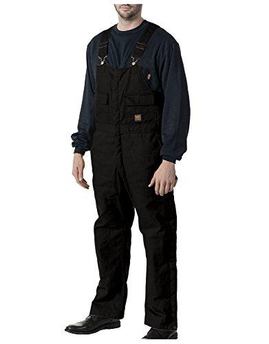 Walls Men's Zero Zone Insulated Bib Overall, Midnight Black, L Tall