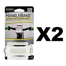 Nite Ize HandleBand Clear Universal Smartphone Bike Mount Phone Holder (2-Pack)