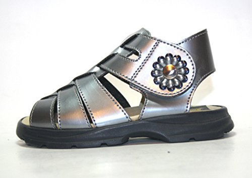 Boomers , Sandales pour fille Gris Graumetallic 25