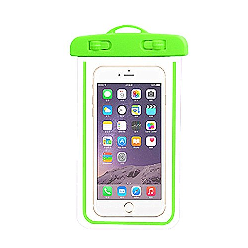 JYSPORT Wasserdichte Hülle, Handy Dry Bag und Phone Case with touch screen function, Waterproof Smartphone Protective Case Universal Screen Protector Green