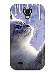 Cute Tpu Annie T Crawford Kitty Looking At Icicles Case Cover For Galaxy S4