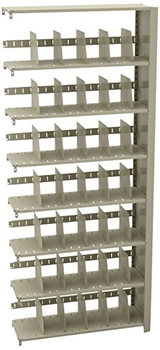 Tennsco 1288AC Imperial Open Shelf Filing Unit, Single Entry Add-On, 8 Shelves / 7 Openings, 36