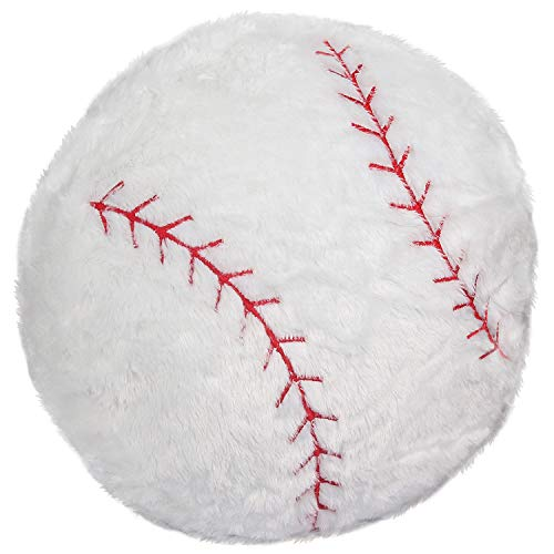 (CatchStar Stuffed Baseball Pillow Plush Fluffy Sports Ball Throw Pillow Soft Durable Sports Toy Gift for Kids Room Decoration Winter)