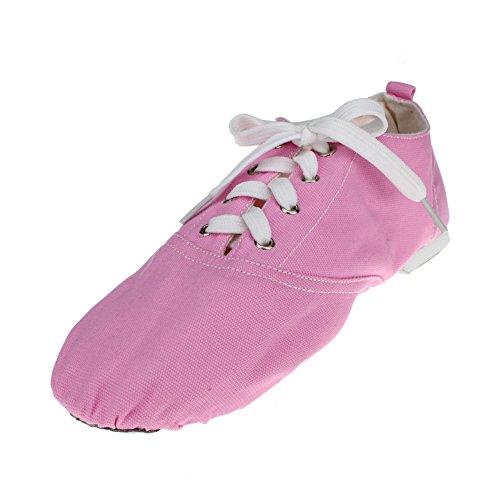 Womans Canvas Low Heel Ballet Dance Sneaker Pink