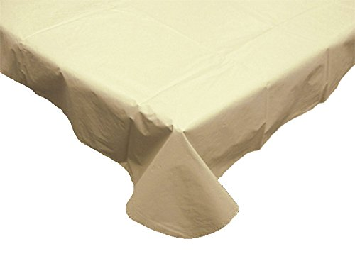 Waterproof Spill Proof Vinyl Solid Round Tablecloth with Fla