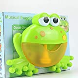 Hot Sale!DEESEE(TM)Bubble Machine Tub Big Frog Automatic Bubble Maker Blower 12 Music Song Bath Toy for Baby