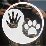ProSticker 2103 (One) 10.1cm Harmony Series Ying Yang Dog Decal Sticker