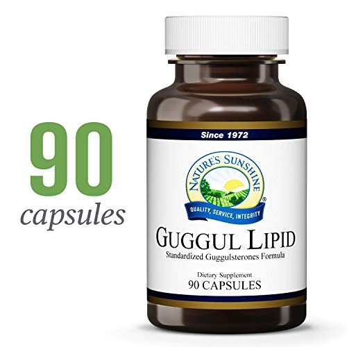 Nature's Sunshine Guggul Lipid Concentrate, 90 Capsules | Supports The Circulatory System, Helps Maintain Cholesterol Levels, and Contains Standardized Guggulsterones