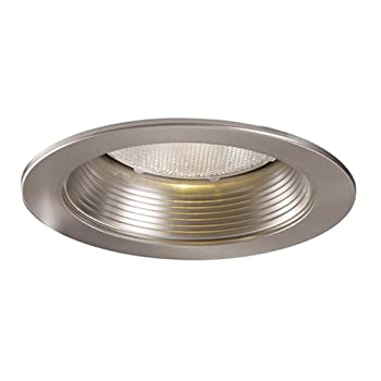 Halo 5001SN 5-Inch Satin Nickel Metal Baffle Splay Trim