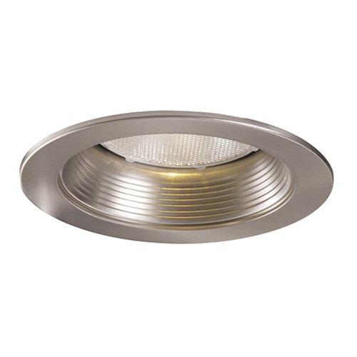 HALO 5001SN 5-Inch Satin Nickel Metal Baffle Splay Trim ()