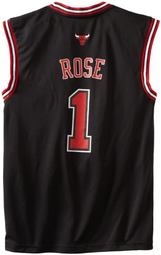NBA Chicago Bulls Derrick Rose Alternate Replica Jersey Black, Medium