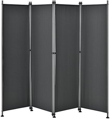 pro.tec]® Pared divisoria / Biombo - 215 x 170 cm - Gris - Biombo exterior - Mampara - Toldo - Protector - Separador de espacios: Amazon.es: Hogar
