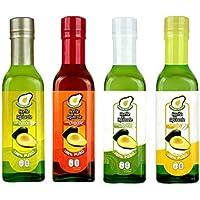 Kit de 4 Aceites de Aguacate Saborizados (Chipotle, Cebolla, Limón y Ajo)