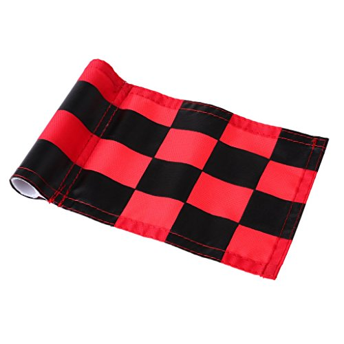 Prettyia 4Pcs Golf Chequered Flag Backyard Outdoor Putting Green Practice Aids Flags for Golf Club by Prettyia (Image #8)